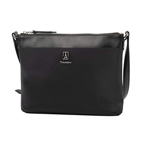 Travelpro Luggage Platinum Elite Women's Crossbody Bag, Black, One Size