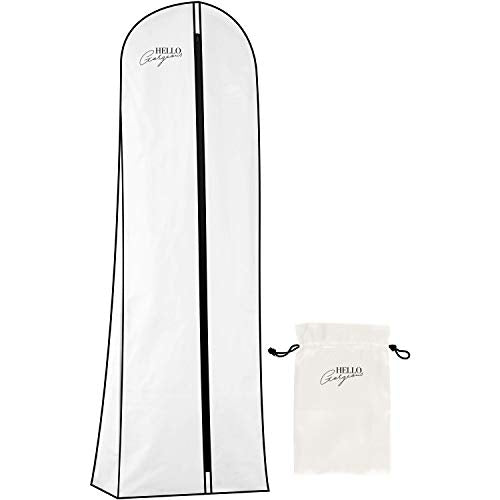 HANGERWORLD Ivory 72inch Breathable Showerproof Wedding Dress Bridal Gown Garment Travel Carry Cover Bags