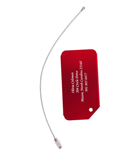 Gp Custom Luggage Tags Personalized Metal Engraved For Travel Suitcase Bag Label (Red)