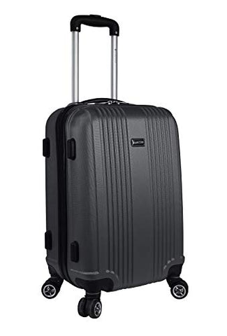 Mancini Santa Barbara Lightweight Carry-on Spinner Luggage in Black