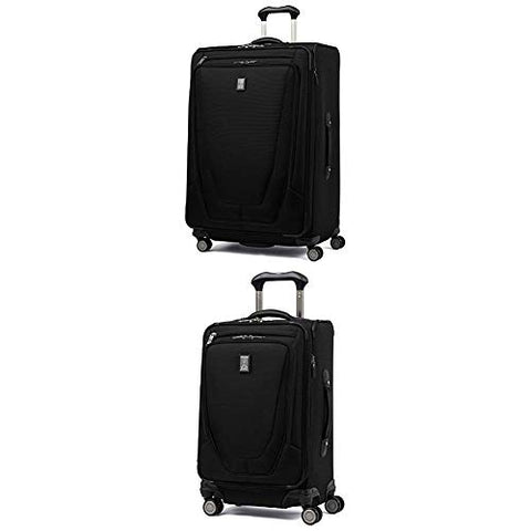 "Travelpro Luggage Crew 11 29"" Expandable Spinner Suitcase W/ Suiter + 21"" Carry-On Spinner (Black)"