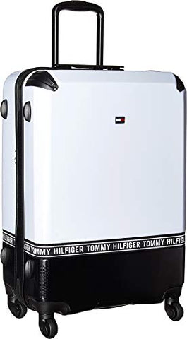"Tommy Hilfiger Unisex Courtside 24"" Upright Suitcase White/Black One Size"