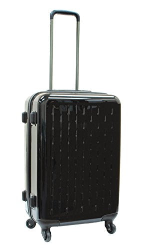 Samboro Celebrity PC Spinner Lightweight Luggage 23 inches Upright Trolley - Black Color