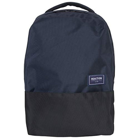 "Kenneth Cole Reaction Two-Tone Polyester 15.6"" (RFID) Laptop Backpack Navy/Black One Size"