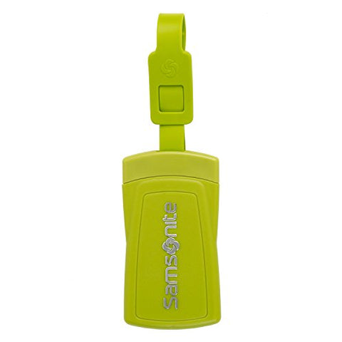 Samsonite Security ID Luggage Tag (Set of 2) Neon Green