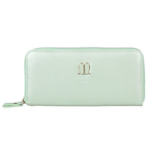 Damara Womens Travel Wallet with Lovely Rabbit Ear Decoration,Light Green