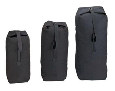 Rothco Top Load Canvas Duffle Bag, Black, 21'' X 36''