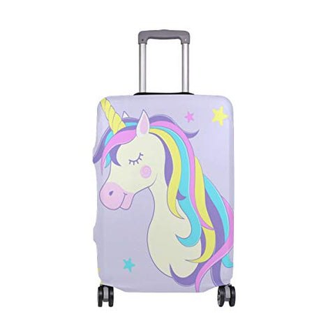 Luggage Cover Cute Unicorn With Stars Suitcase Protector Fits 18-32 Inch Travel Luggage
