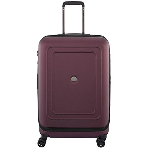 "Delsey Luggage Cruise Lite Hardside 25"" Exp. Spinner Trolley, Black Cherry"