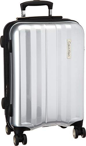 "Calvin Klein Excalibur 21"" Expandable Hardside Spinner, SILVER"