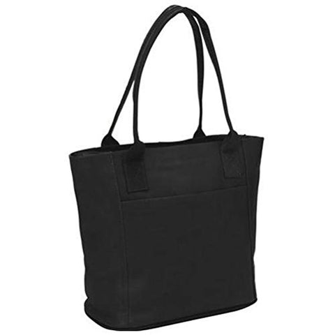 Piel Leather Small Tote Bag, Black, One Size