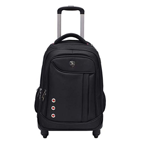 STATEGY Freewheel Wheeled Backpack Business Waterproof Travel Laptop Backpack, Carry-on Bag Perfect for Men and Women (Color : Black, Size : M)
