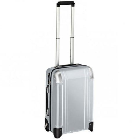 Zero Halliburton Geo Polycarbonate Carry On 2 Wheel Travel Case, Silver, One Size