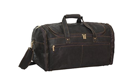 David King & Co. Extra Large Multi Pocket Duffel, Distressed Brown, One Size