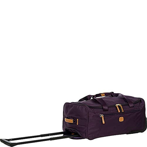 Bric's X-Bag/x-Travel 2.0 21 Inch Carry-on Rolling Duffle Duffel, Violet One Size