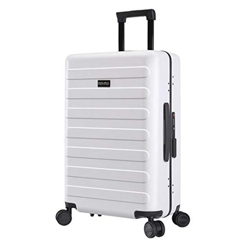 TangFeii-trunk Boarding Luggage Universal Wheel Upright Carry-on Luggage Expandable Spinner 20inches 24inches Carry-on Suitcase Uprights Suitcase 360° Silent Spinner (Color : White, Size : 20inches)