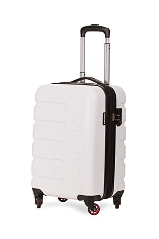 "SWISSGEAR 7366 Expandable Hardside Spinner (18"", White)"