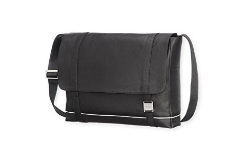 Moleskine Lineage Messenger Bag, Leather, Black