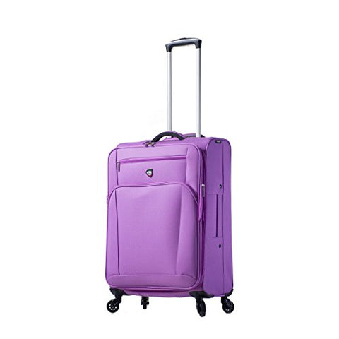 Mia Toro Italy Aria Softside 24 Inch Spinner Luggage, Grape