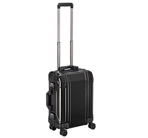 Zero Halliburton Geo Aluminum 3.0 Carry On 4-Wheel Spinner Luggage in Black