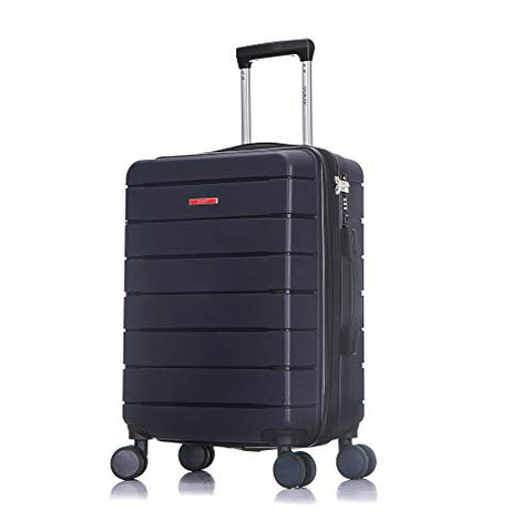 DUKAP Definity Lightweight Hardside Spinner 20'' inches carry-on Navy Blue