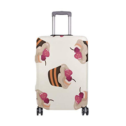 GIOVANIOR Cartoon Cakes Cherry Luggage Cover Suitcase Protector Carry On Covers