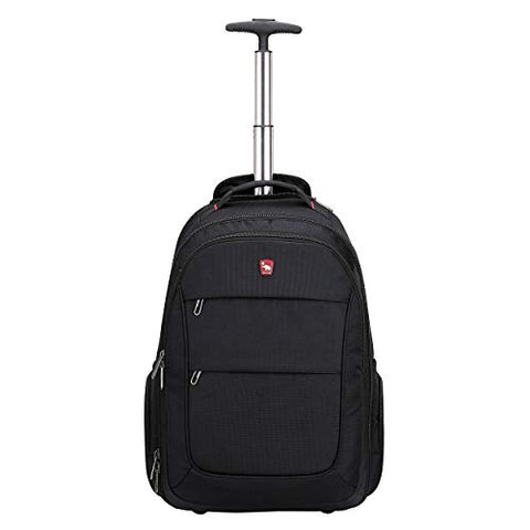 Oiwas Rolling Backpack With Wheels 20 Inch School College Wheeled Book Bag Laptop Travel Carry On