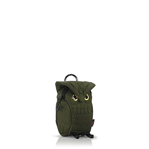 Darling's Baby Owl Multi-Purpose Pouch Waist Bag with Lanyard & Metal Buckle Olive