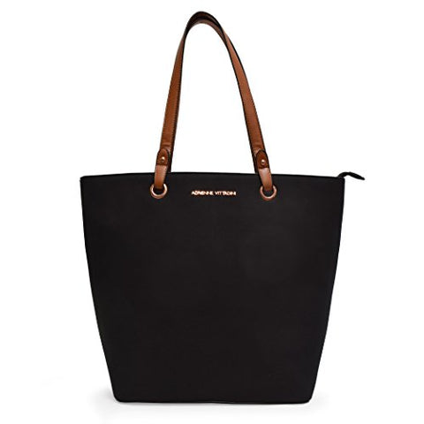 Faux Suede Grommet Everyday Laptop Tote By Adrienne Vittadini (Black)