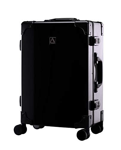 Andiamo Luggage Classico Zipperless Suitcase With Spinner Wheels (20in, Black)
