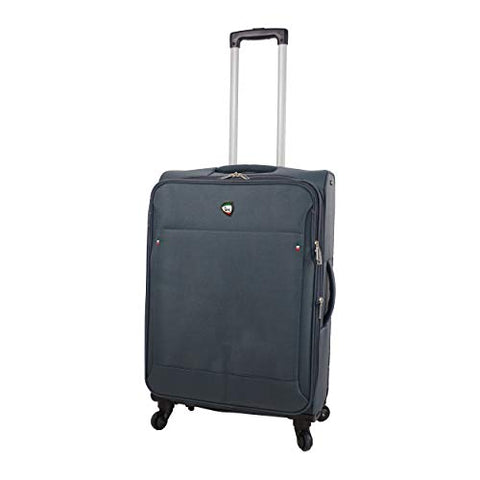 Mia Toro Italy Idice Softside 24 Inch Spinner, Grey