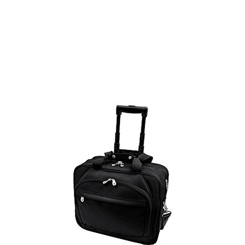 U.S. Traveler Rolling Laptop Briefcase with Laptop Sleeve - Black