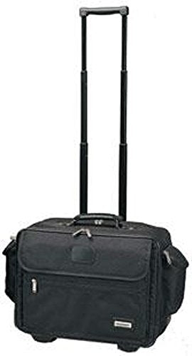GOODHOPE Bags 4521.BLACK Bellion Wheeled Computer Briefcase with Side Pockets, Black