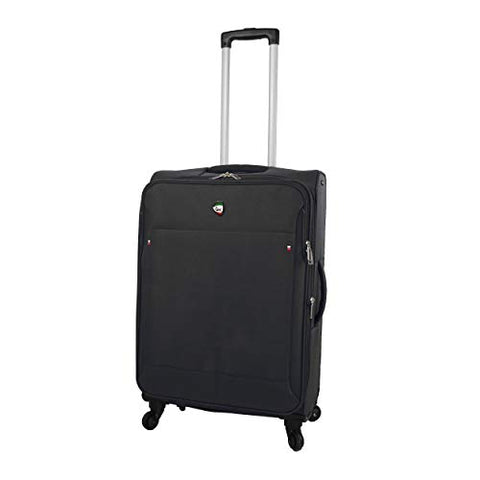 Mia Toro Italy Idice Softside 24 Inch Spinner, Black