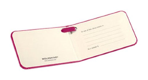 "Moleskine 3.75x2.25"" Luggage Tag, Dark Pink"