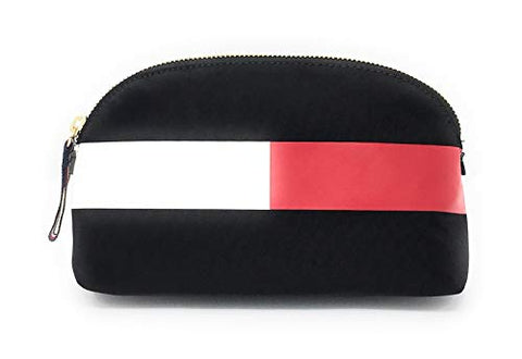Tommy Hilfiger Large Travel Pouch Cosmetic Case (Black)