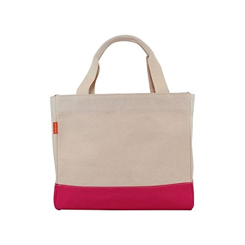 CB Station 6189 Color Block Tote Bag44; Hot Pink