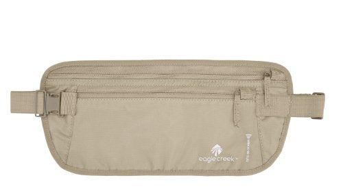 Eagle Creek Travel Gear Luggage RFID Blocker Money Belt DLX, Tan