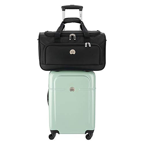 Delsey Luggage Fashion 2-Piece Set, Carry-On Suitcase and Free Duffel Bag (Seafoam)