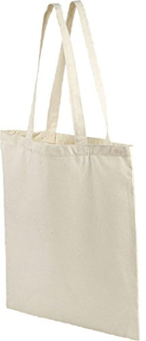 ZUZIFY Simple Organic Cotton Tote Bag. YT1098 OS Natural