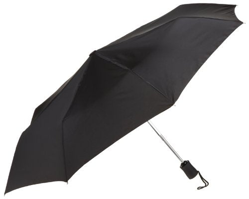 Lewis N. Clark Compact & Lightweight Travel Umbrella Opens & Closes Automatically, Black, One Size