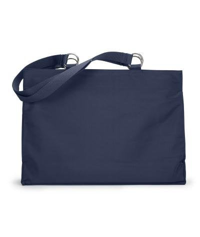 Ultraclub Woven Strap Inside Pocket Microfiber Tote, Navy, One