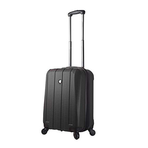 Mia Toro Italy Tosetti Hardside Spinner Carry-on, Black