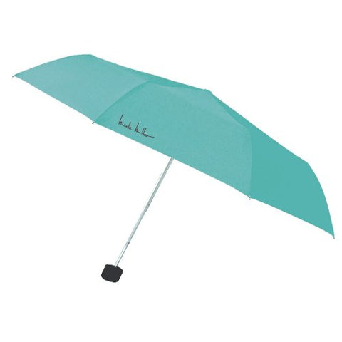 "Nicole Miller Luggage 42"" Ultra Lite Supermini Umbrella with Eyeglass Case, Turquoise"