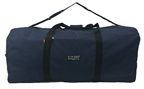 "Heavy Duty Cargo Duffel Large Sport Gear Drum Set Equipment Hardware Travel Bag Rooftop Rack Bag (21"" x 10"" x 9"", Navy)"