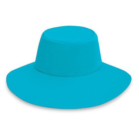 Wallaroo Womens Aqua Hat Sun Hat With Chin Strap - Upf 50+ - Packs Flat! Turquoise