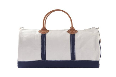 Cb Station - Round Duffel- Navy Canvas Bag