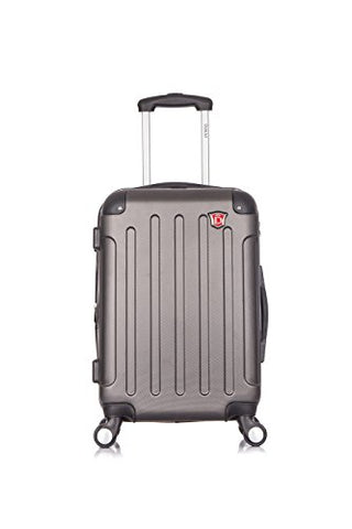 Dukap Intely Hardside Spinner 20'' Inches Carry-On With Usb Port - Grey