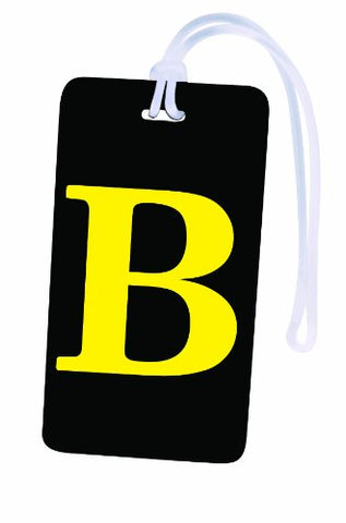 Initial Luggage Tag Letter B Personalized Id Tag