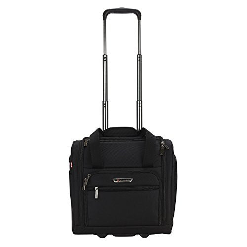 Travelers Polo & Racquet Club Rafael 15 Inch Softside Underseater With Usb Port, Black